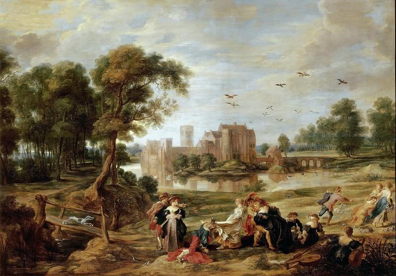 Пейзаж с замком Стен. Peter Paul Rubens