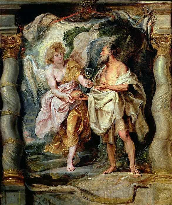 Пророк Илия и ангел в пустыне. Peter Paul Rubens