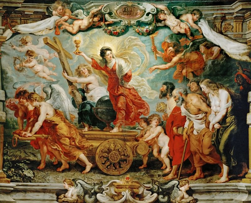 Rubens,Peter Paul -- Triumph of Faith.(Allegory of the victory of Catholic faith over the Reformation), 1627. Oil on canvas, 481 x 595 cm. Peter Paul Rubens