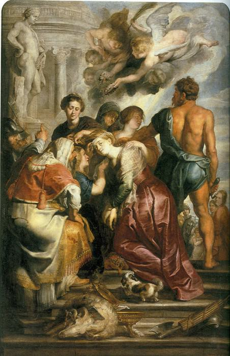 Martyrdom of St Catherine. Peter Paul Rubens