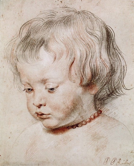 Peter Paul Rubens -- Study of the Artist's Son, Nicolas. Peter Paul Rubens