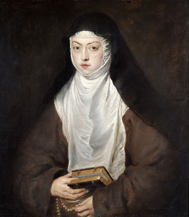 Ana Dorotea, Daughter of Rudolph II, a Nun at the Convent of the Descalzas Reales, Madrid. Peter Paul Rubens