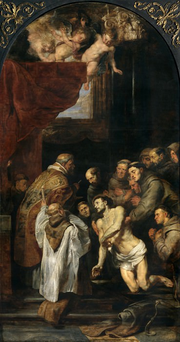 The Last Communion of St Francis - 1619. Peter Paul Rubens