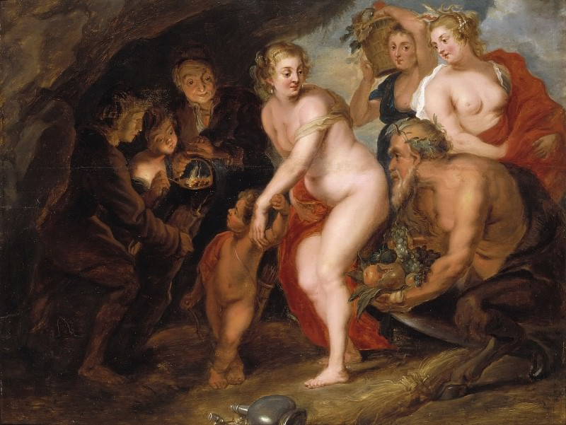 Without Ceres and Bacchus Venus freezes. Peter Paul Rubens (After)
