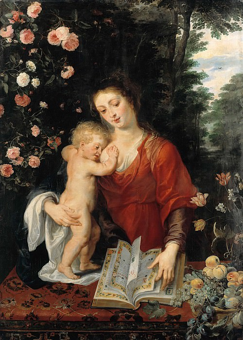 Rubens (1577-1640) - Virgin and Child. Part 4