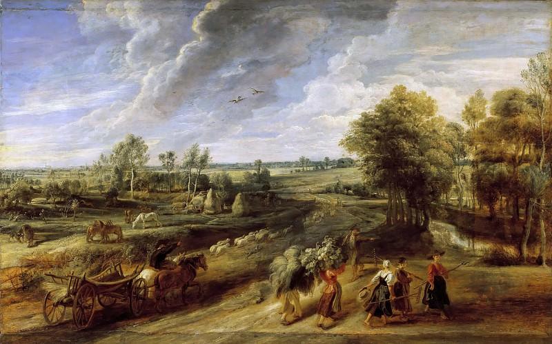Peter Paul Rubens -- Return from the Harvest. Peter Paul Rubens
