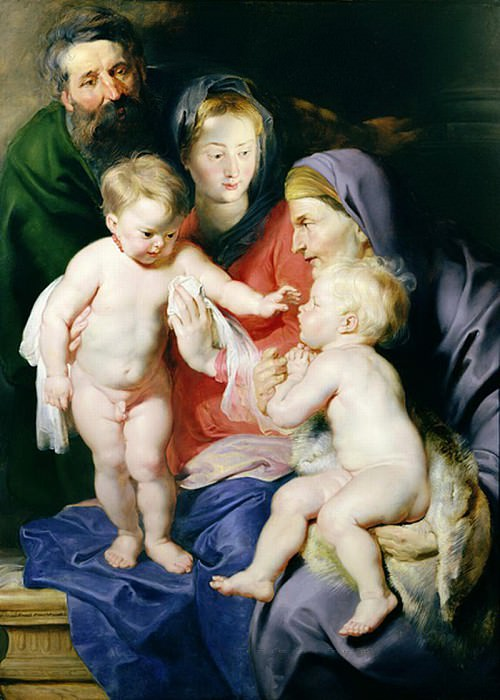 Holy Family with St Elizabeth and St John the Baptist - 1614. Peter Paul Rubens