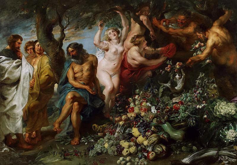 Pythagoras Advocating Vegetarianism. Peter Paul Rubens