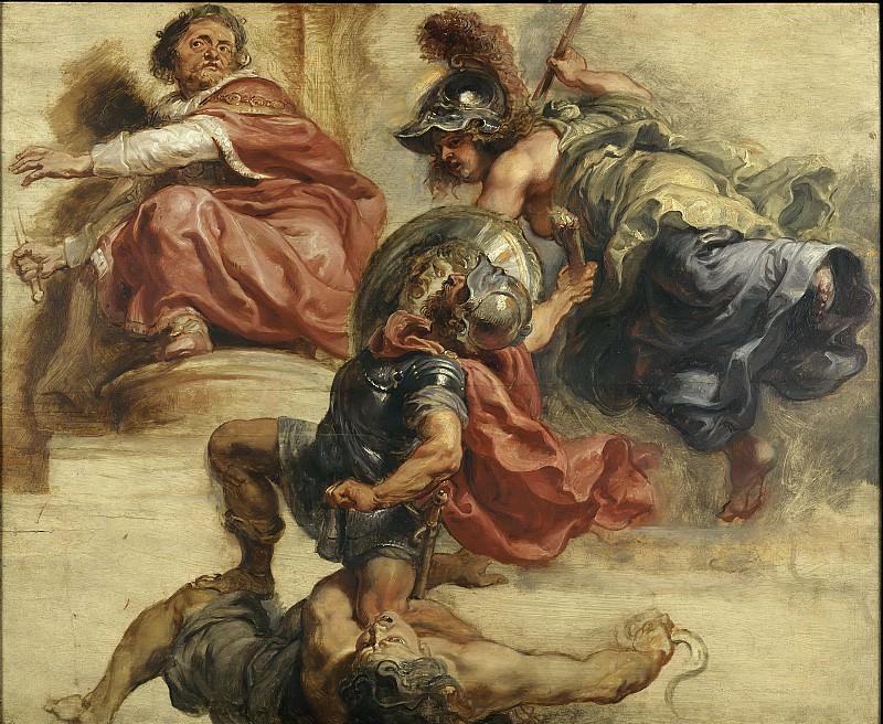 Peter Paul Rubens -- La sagesse éloignant la rébellion armée du trône de Jacques Ier d'Angleterre. Peter Paul Rubens