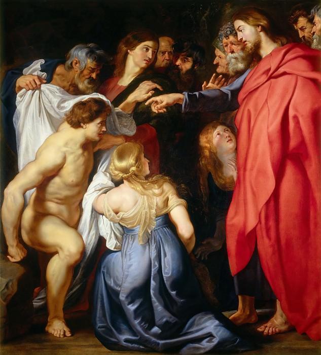 Attributed to Peter Paul Rubens -- Raising of Lazarus. Peter Paul Rubens
