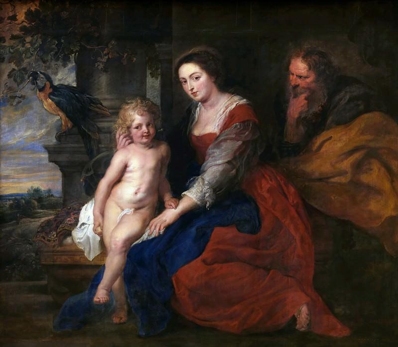 Святое Семейство с попугаем. Peter Paul Rubens