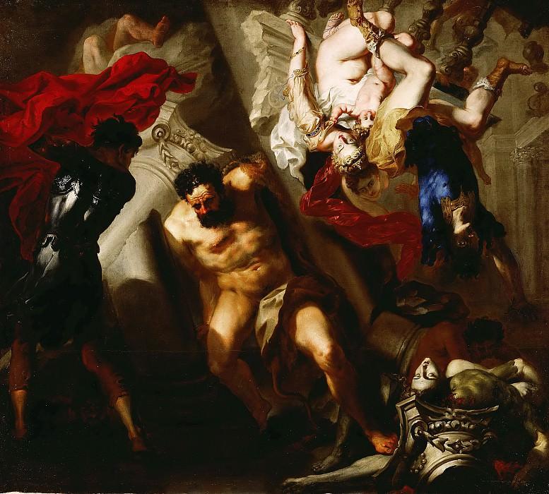 Смерть Самсона, приписывается Рубенсу. Питер Пауль Рубенс