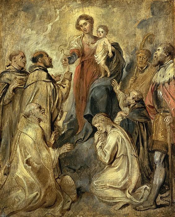 Мадонна с четками. Peter Paul Rubens
