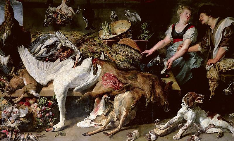 Натюрморт с лебедем и два повара (совместно с Франсом Снейдерсом). Peter Paul Rubens