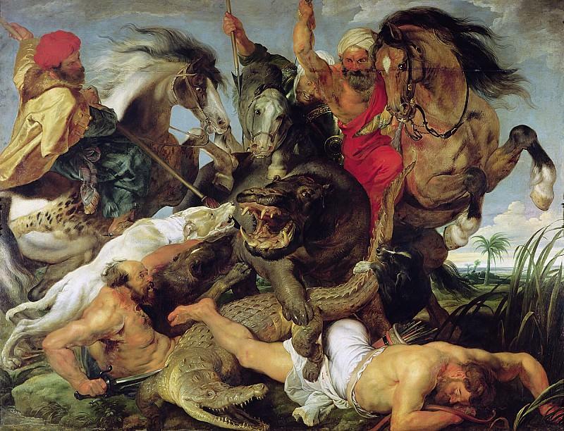 Hippopotamus and Crocodile Hunt - 1615 - 1616. Peter Paul Rubens