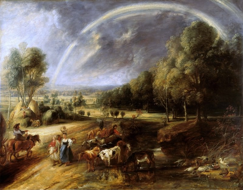 Landscape with a Rainbow - ок 1636. Peter Paul Rubens