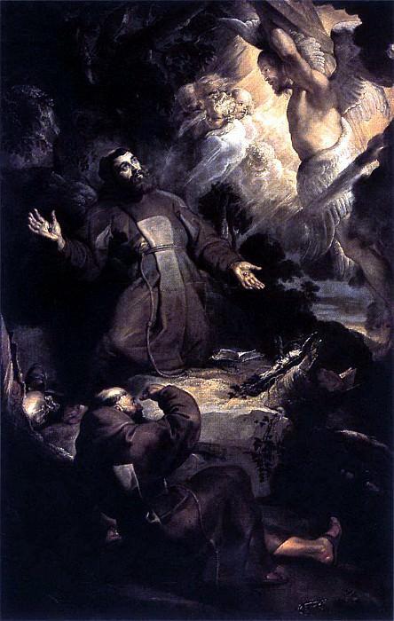 The Stigmatization of St Francis - 1616. Peter Paul Rubens