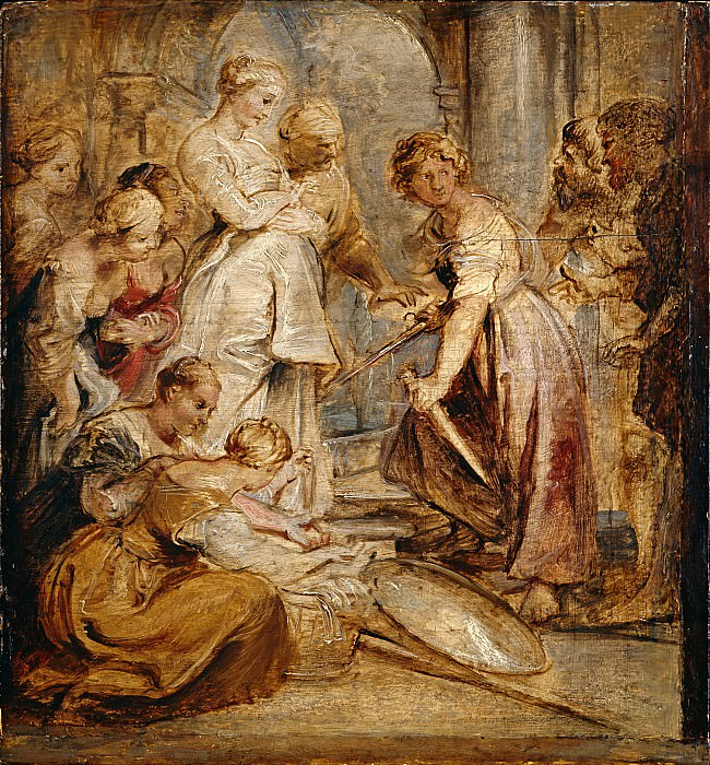 Achilles and the Daughters of Lykomedes - 1617 - 1618. Peter Paul Rubens