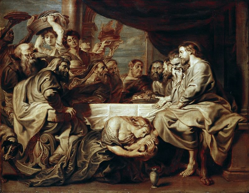 Христос в доме фарисея Симона. Питер Пауль Рубенс