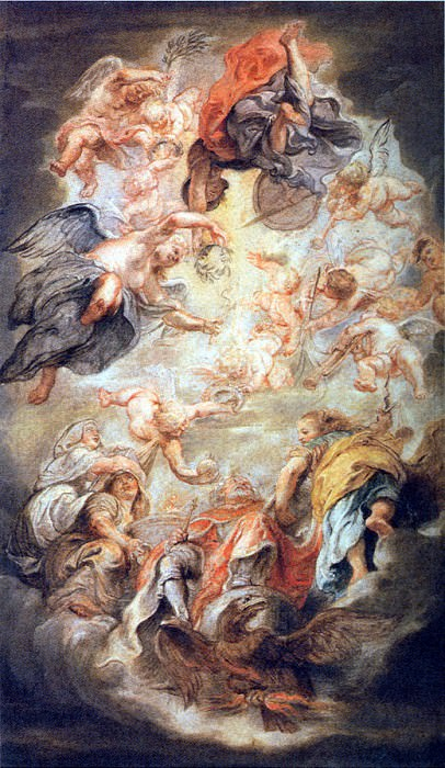 Apotheosis of King James I. Peter Paul Rubens