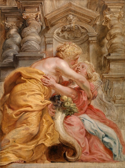 Peace Embracing Plenty. Peter Paul Rubens