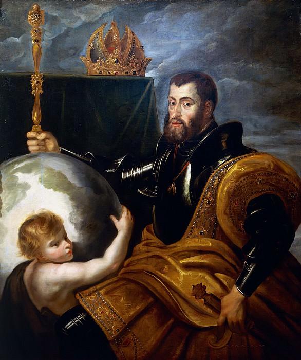 Pieter Paul Rubens (1577-1640), Allegory on Charles V of Habsburg (1500-1558) as Ruler of the World, 1607. --. Peter Paul Rubens