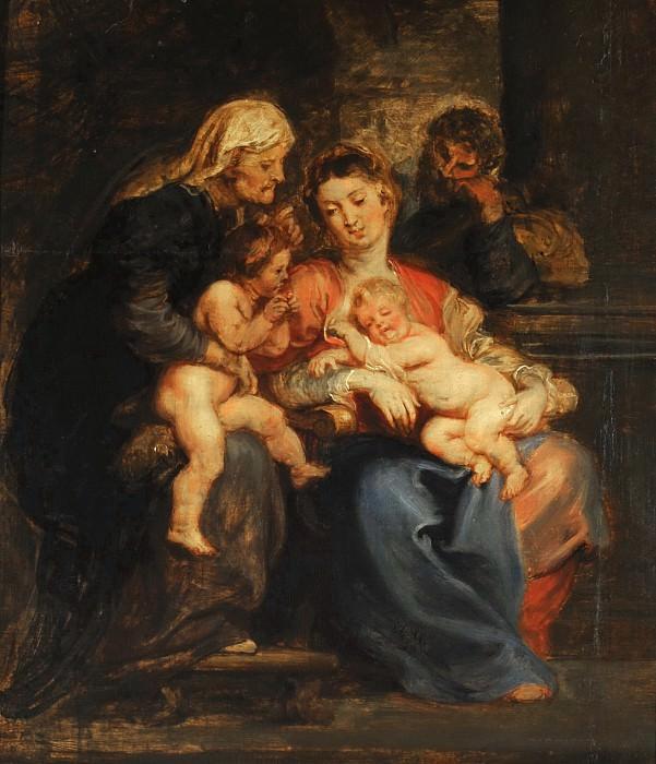 RUBENS, Pieter Paul -- La Sagrada Familia con Santa Isabel y San Juan,. Peter Paul Rubens