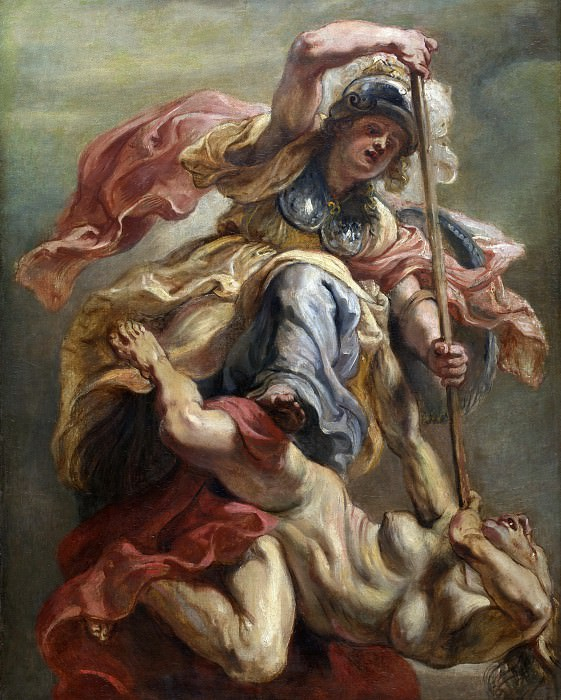Minerva slaying Discord. Peter Paul Rubens