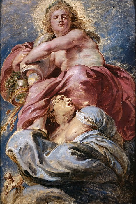 Bounty of James I triumphing over Avarice --. Peter Paul Rubens