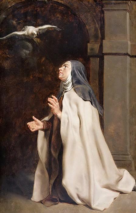 Явление святого Духа Терезе Авильской - ок1614. 97х63. Музей Фицуильяма Кембридж. Peter Paul Rubens