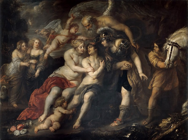 Rubens, Peter Paul (1577-1640) -- Title: Hercules between Vice and Virtue. Peter Paul Rubens