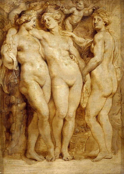 Rubens, Peter Paul (1577-1640) -- Title: The Three Graces. Peter Paul Rubens