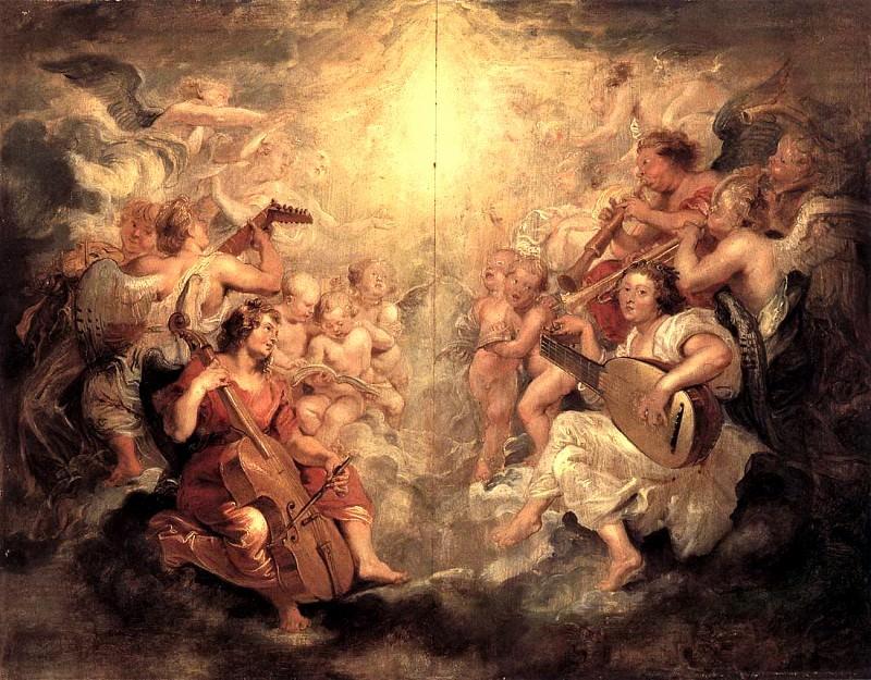 Music Making Angels - 1628. Peter Paul Rubens