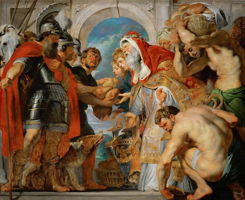 Abraham and Melchisedech (Genesis 14:17-20). Peter Paul Rubens