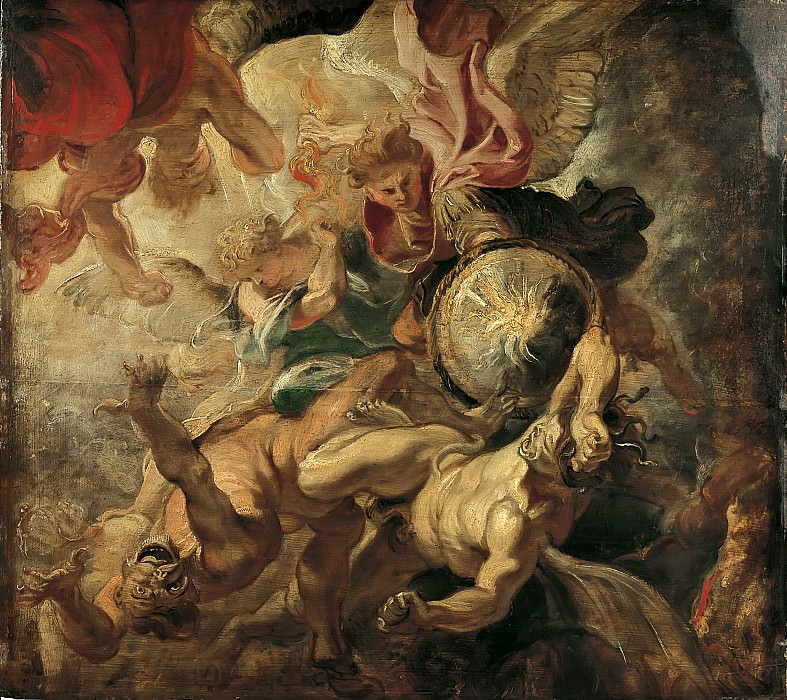 Peter Paul Rubens -- Saint Michel terrassant les anges rebelles. Peter Paul Rubens