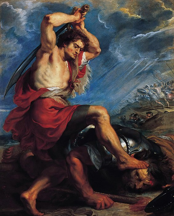 Давид, обезглавливающий Голиафа. Питер Пауль Рубенс