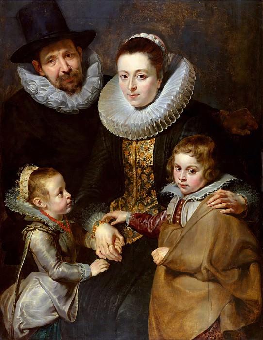 Портрет семьи Яна Брейгеля Старшего. Peter Paul Rubens