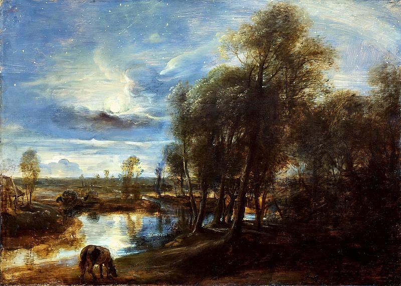 Пейзаж в лунном свете. Peter Paul Rubens