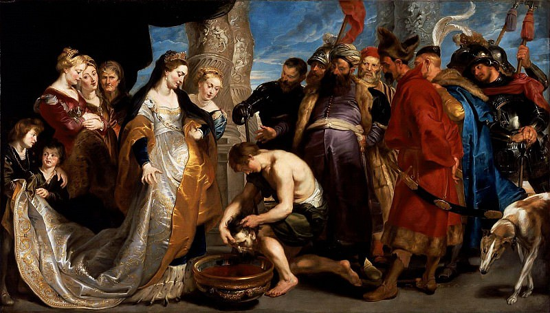 Head of Cyrus Brought to Queen Tomyris - ок 1622 -1623. Peter Paul Rubens