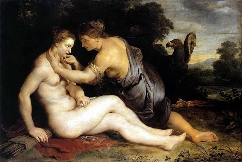 Jupiter and Callisto - 1611. Peter Paul Rubens