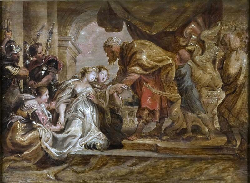 Esther and Ahasuerus. Peter Paul Rubens (After)