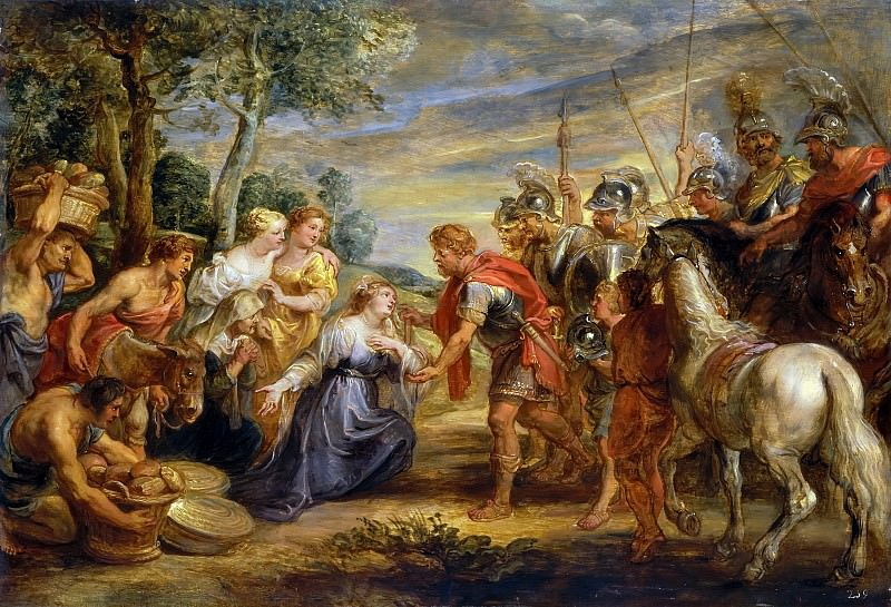 The Meeting of David and Abigail - 1630. Peter Paul Rubens