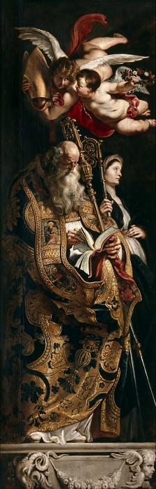 Rubens Raising of the Cross Sts Amand and Walpurgis. Peter Paul Rubens