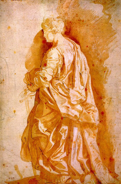 Study for a Standing Female Saint - 1607. Peter Paul Rubens