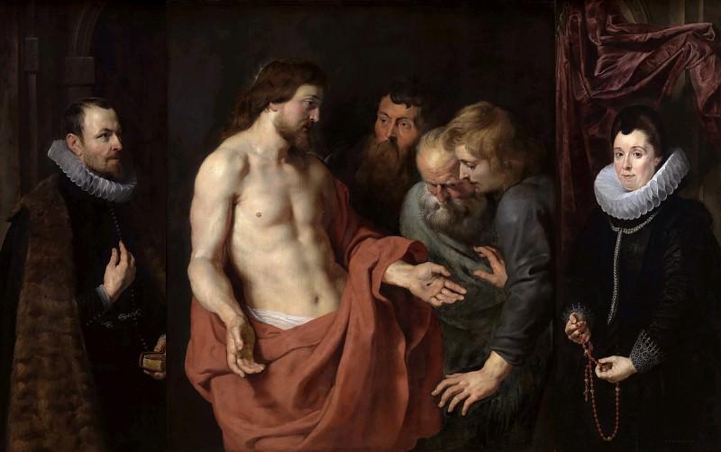 Неверие святого Фомы с Николасом Рококсом и Адрианой Перес. Питер Пауль Рубенс