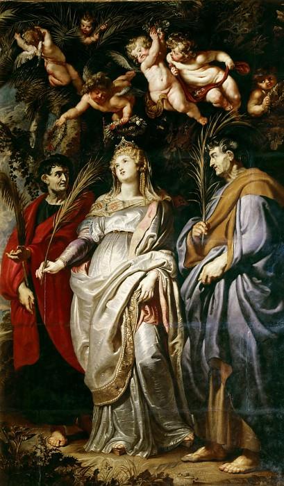 St Domitilla with St Nereus and St Achilleus. Peter Paul Rubens