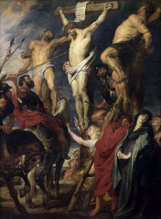 Christ on the Cross between the Two Thieves - 1620. Peter Paul Rubens