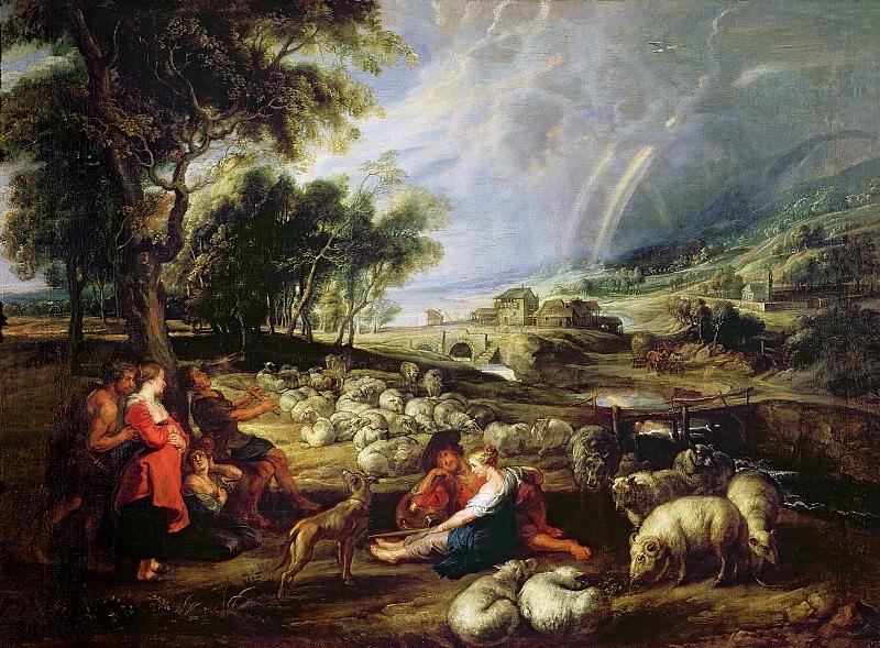 Rubens Landscape with a Rainbow 1632 5. Peter Paul Rubens