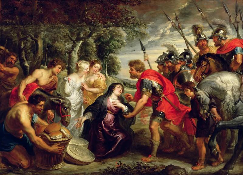 Встреча Давида и Авигеи. Peter Paul Rubens