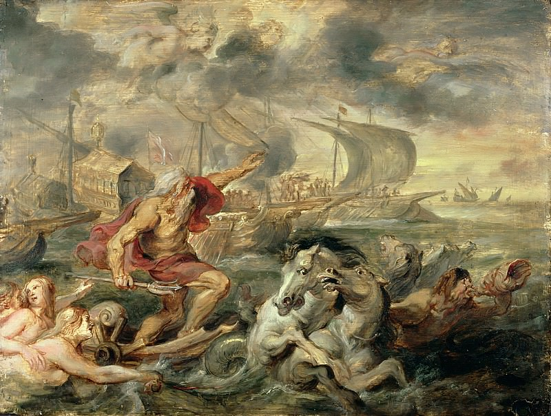 Нептун, успокаювающий шторм. Peter Paul Rubens